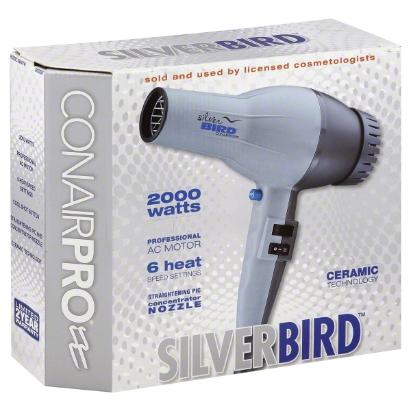 Conair Pro Silver Bird 2000 Watt Hair Dryer