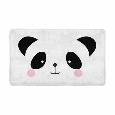 MKHERT Cute Baby Panda Bear Face Doodle Comic Animal Doormat Rug Home Decor Floor Mat Bath Mat 30x18 inch