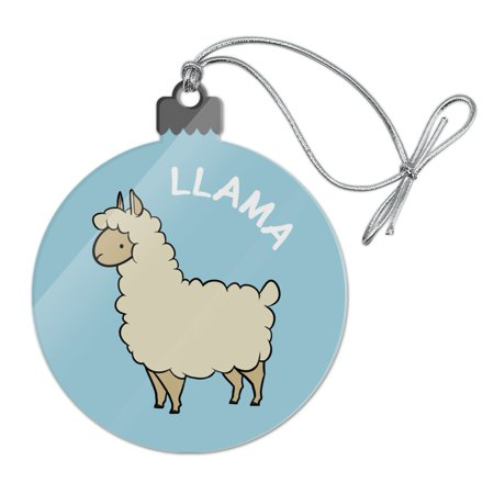 Llama Cartoon Acrylic Christmas Tree Holiday Ornament - Christmas Cartoon Tree