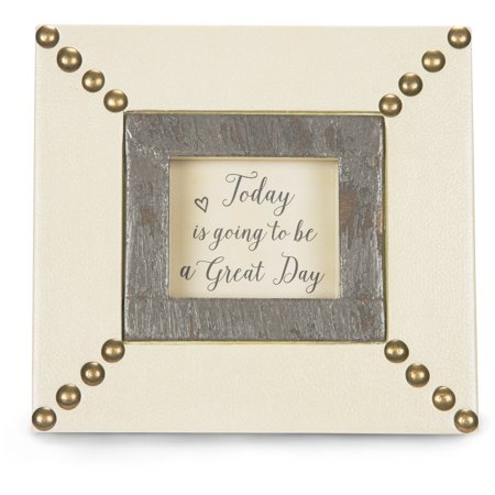 Pavilion - Today is going to be a Great Day Frame Wall Decor 6x5.5 Inches