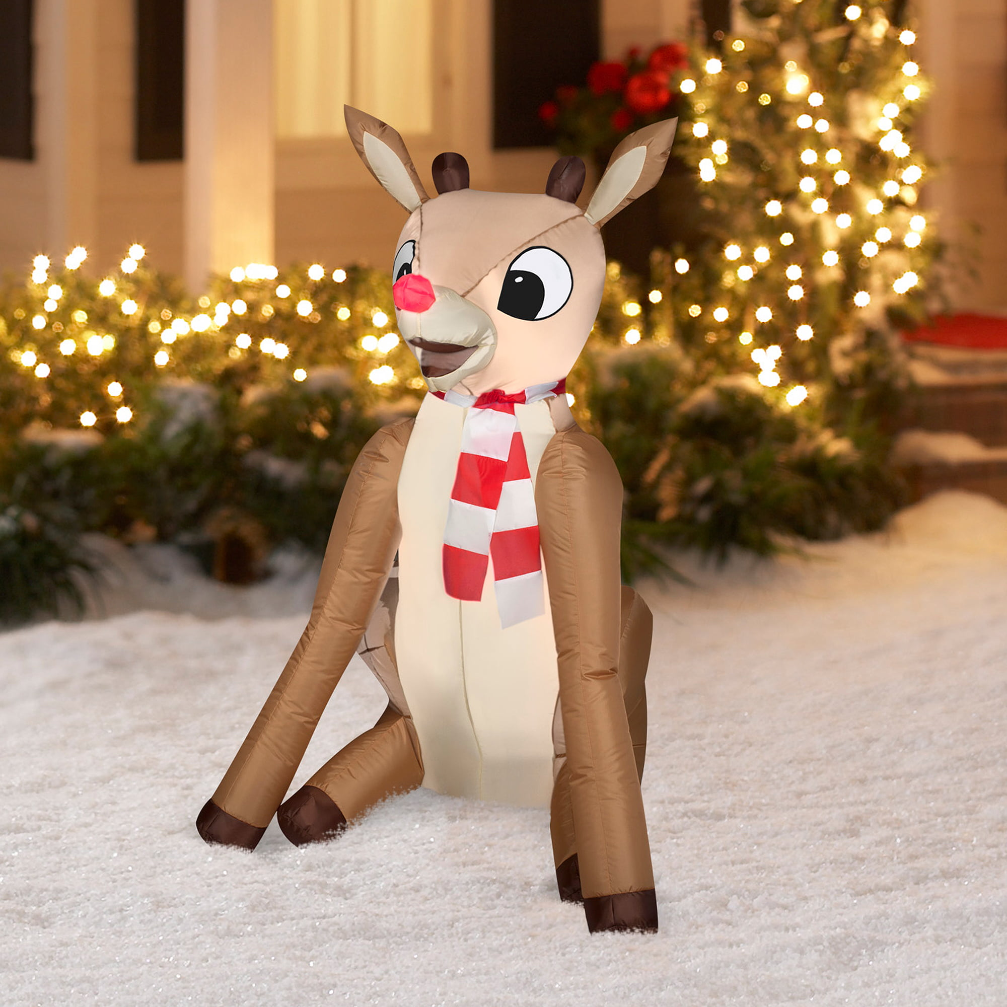 gemmy airblown christmas inflatables 4 rudolph prop decoration walmartcom