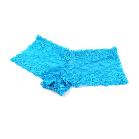 French Maid Panties (Womens Ladies French Lace Panties Knickers Boy Shorts Underwear Blue,)