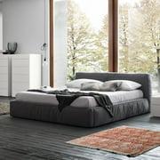Rossetto Twist Platform Bed - Dark Grey