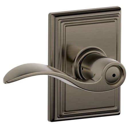 Schlage F40-ACC-ADD Accent Privacy Door Lever Set with Decorative Addison Trim