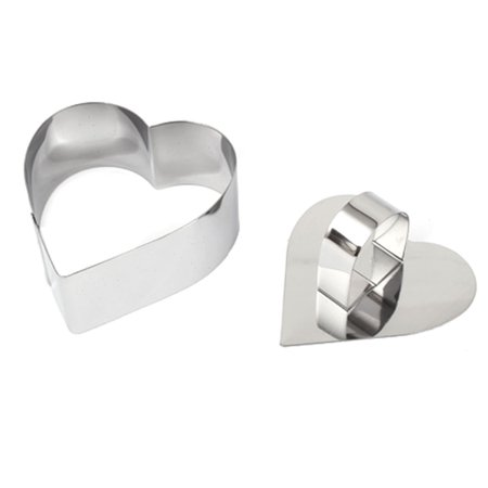 Bakery DIY Biscuit Cake Stainless Steel Heart Shaped Cookie Cutter Mold (Heart Shaped Cookie Cake)