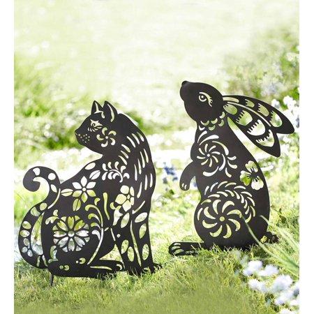Black Iron Animal Silhouette Garden Stake, 18 W x 30.5 H ()