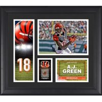 "A.J. Green Cincinnati Bengals Framed 15"" x 17"" Player Collage with a Piece of Game-Used Football"