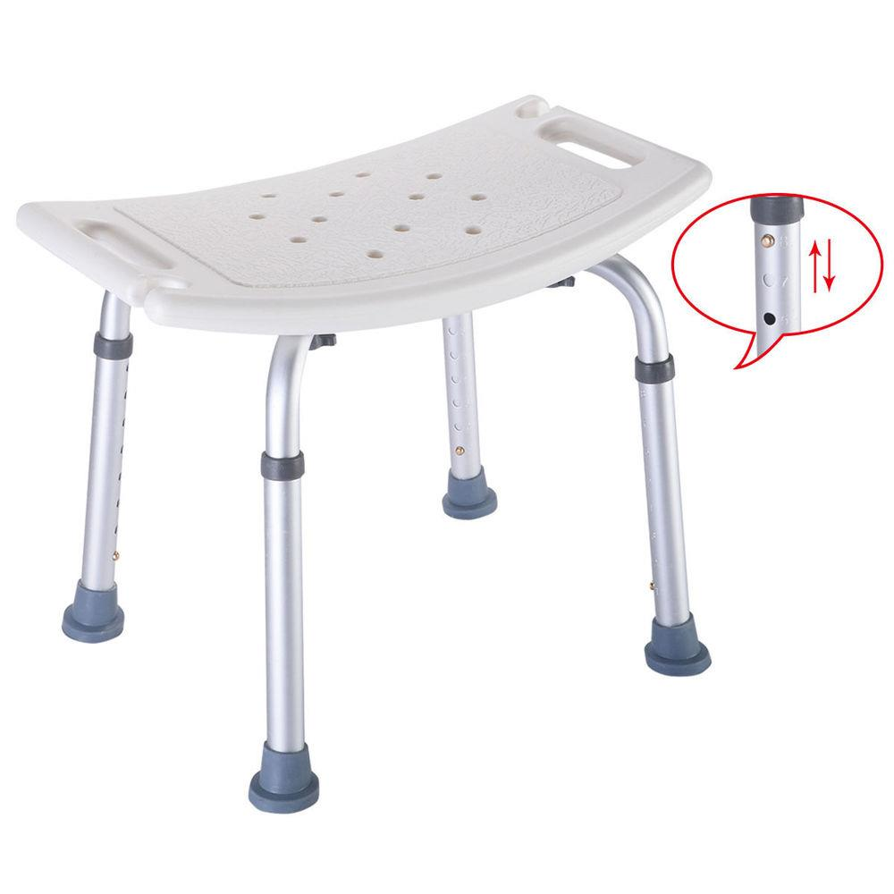Delicieux Ktaxon Bath Shower Chair Adjustable Medical 8 Height Bench Bathtub Stool  Seat,White