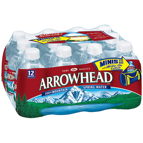 Arrowhead 100% Mountain Spring Water, 8 fl oz, 12 count