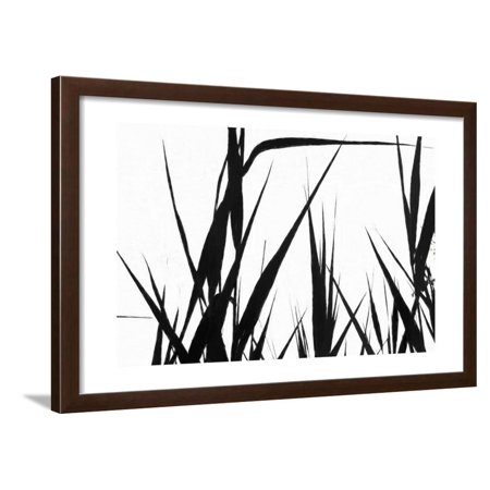 Shapes White On Black Framed Print Wall Art By Anthony Paladino