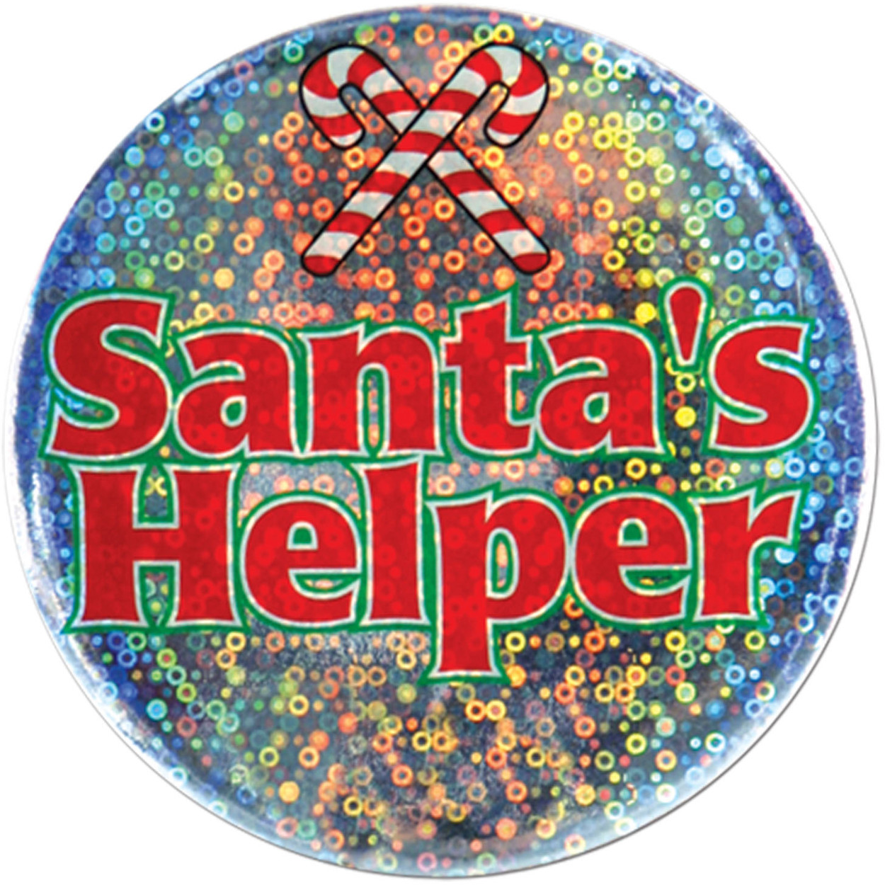 "Holiday Spirit Christmas Santa's Helper 3.5"" Button Costume Accessory"