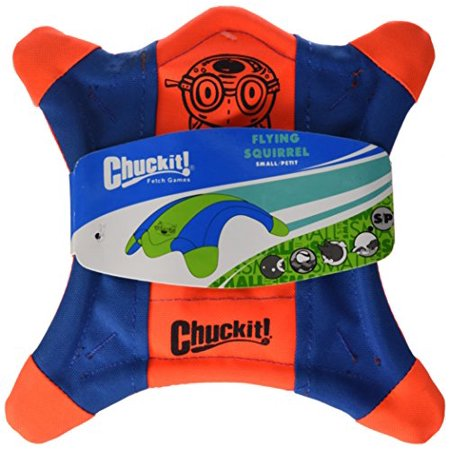 Chuckit! Flying Squirrel Spinning Dog Toy Orange/Blue Large