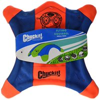 Chuckit! Flying Squirrel Spinning Dog Toy Orange/Blue