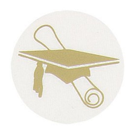 Masterpiece Studios Silver Paper - Masterpiece Studios 9882076 Gold Grad Hat Foil Seals