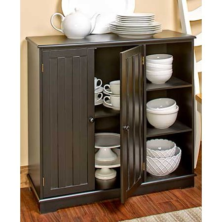 Beadboard Storage Units or Baskets Wooden, Seagrass and Metal Home Organized New (Black Storage - Stylish Black Wooden Box