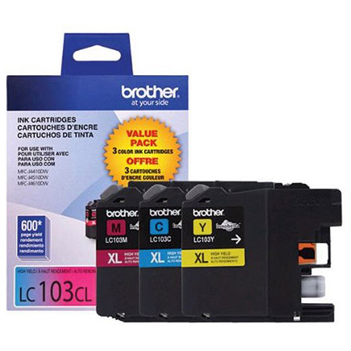 Brother Innobella LC1013PKS Tri-pack Standard Yield Inkjet Print Cartridge, Cyan/Magenta/Yellow