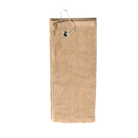 Personalized Custom Embroidery Trifold Golf Towel Taupe