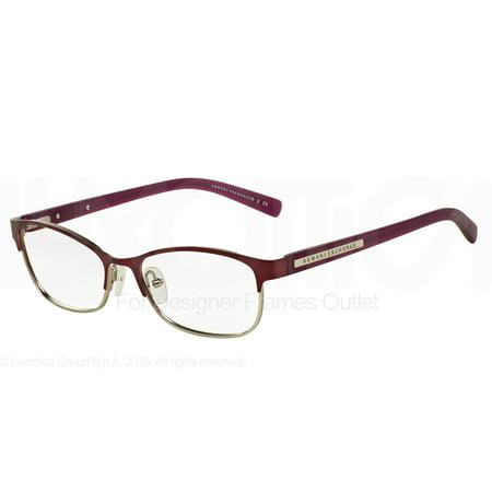 ARMANI EXCHANGE Eyeglasses AX 1010 6050 Satin Berry Jam Satin Silver (Armani Exchange Eyeglasses Frames)
