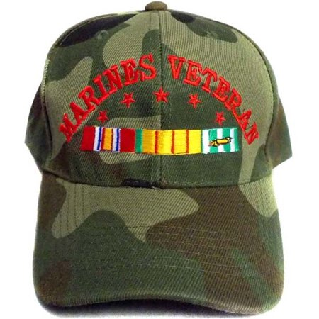 USMC Marine Veteran Embroidered Camo Military Baseball  Caps - Gifts  (7506M61*) Military Usmc Insignia Caps
