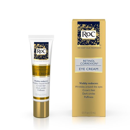 RoC Retinol Correxion Anti-Aging Eye Cream Treatment for Wrinkles, Crows Feet, Dark Circles, and Puffiness .5 fl. (Best Peel For Under Eye Wrinkles)