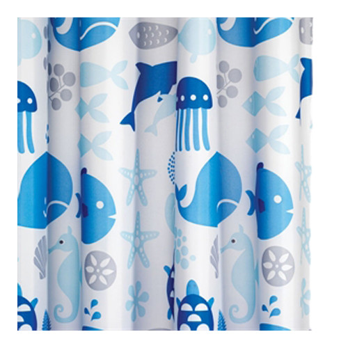 Croydex Coast Textile Shower Curtain