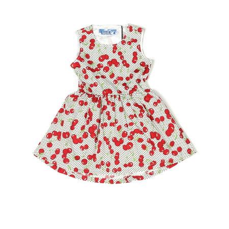 Kapital K Open Back Dress (Little Girls) Cherry Girls Dress
