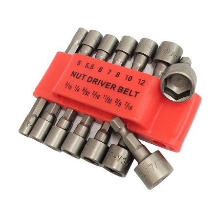Insulated Metric Nut Driver - 14pc Power Nut Driver Set Dual Metric & Standard SAE 1/4