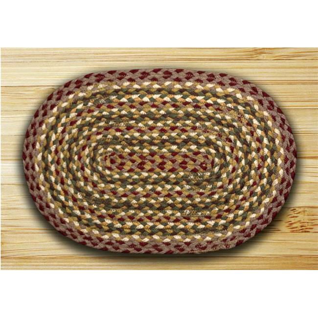 Earth Rugs 52-PM324 Olive-Burgundy-Gray Placemat