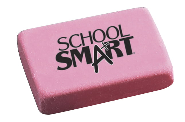 School Smart Block Erasers, Large, Pink, Pack of 40 by Wenzhou Sun Stationery Co LTD