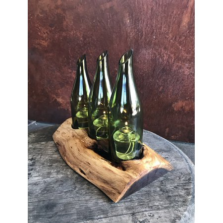 Wood Centerpiece (Canvas Print Centerpiece Plank Wood Wine Bottle Mesquite Wood Stretched Canvas 10 x)