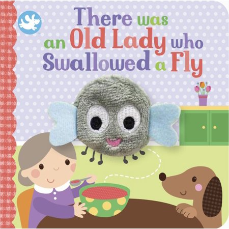 there was an old lady who swallowed a fly finger puppet book
