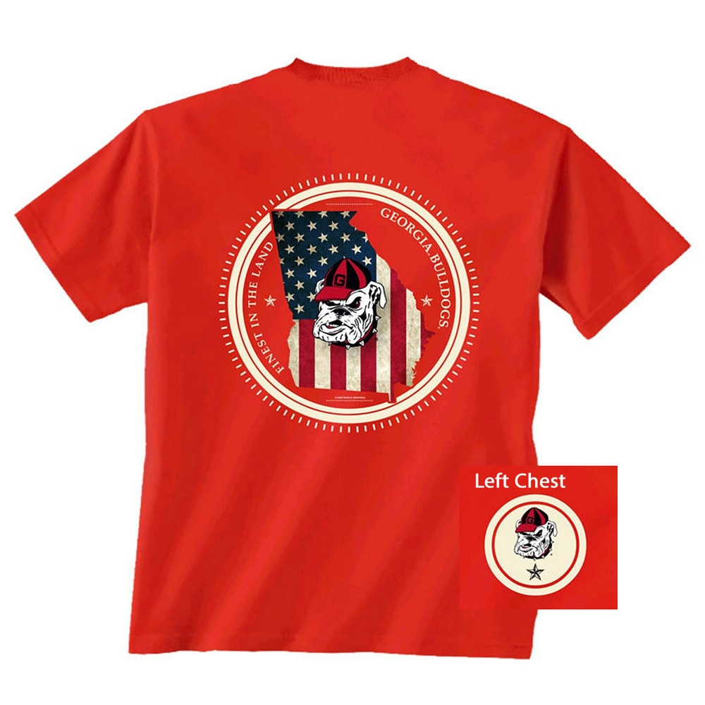 Georgia Bulldogs State Patriot T-shirt - Red