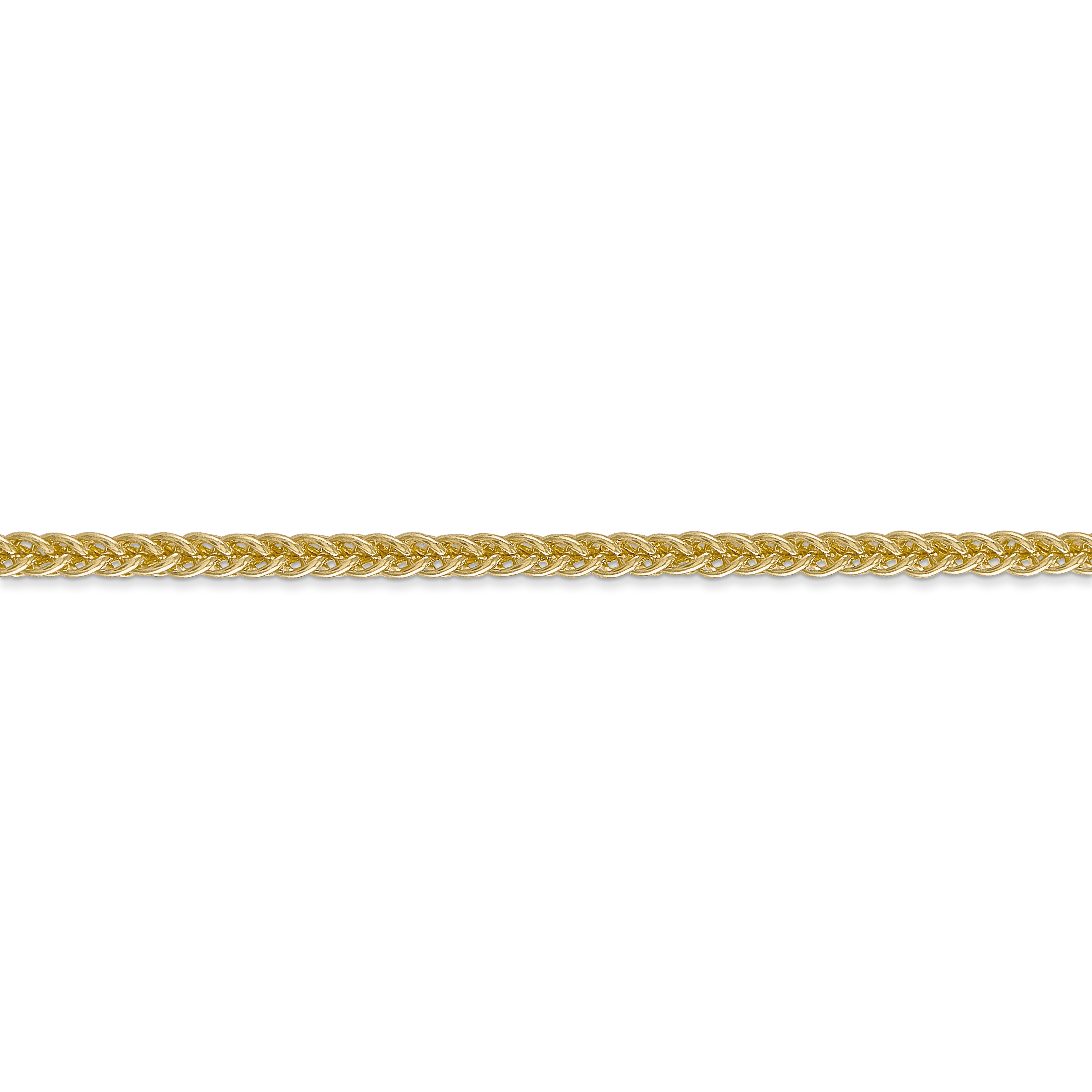 14K Yellow Gold 2.60mm Semi-solid 3-Wire Wheat Chain 18 Inch - image 1 of 5
