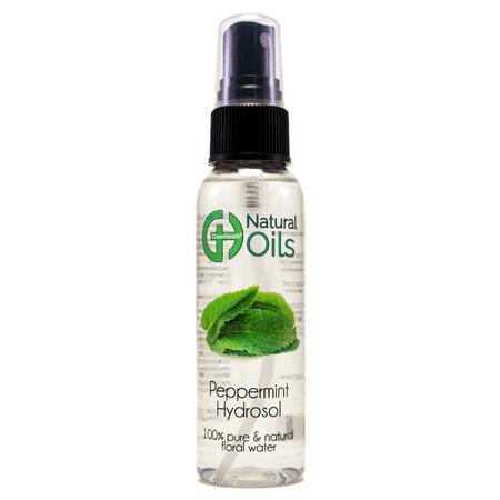 Peppermint Floral Water 2 oz Plastic Bottle w/ Black Sprayer