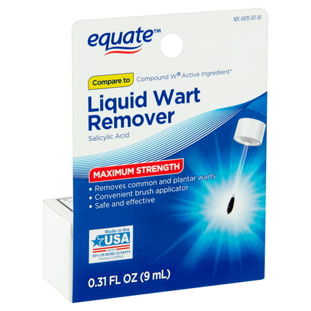 Equate Maximum Strength Liquid Wart Remover, 0.31 fl
