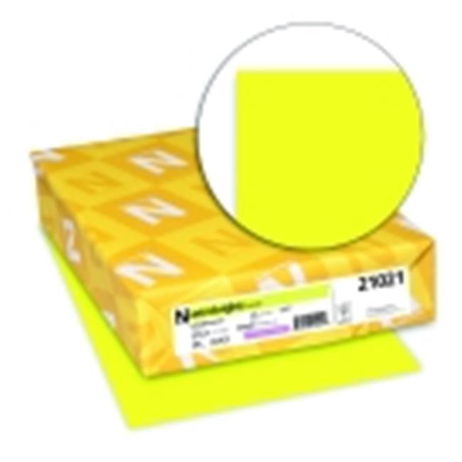 Astrobrights 8.5 x 11 in. Paper Acid-Free Premium Card Stock - Lift-Off Lemon, Pack 250