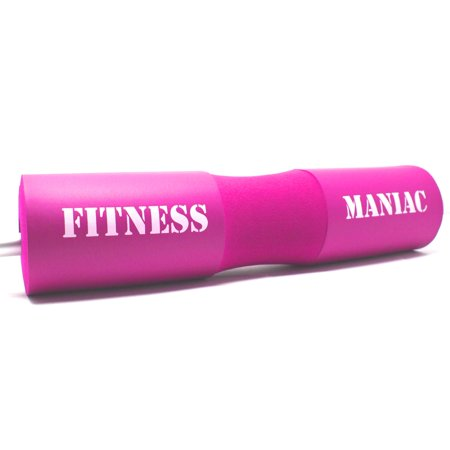 Fitness Maniac Squat Barbell Pad Support Pink for Women Gym Weight Lifting Bar Foam Cover Pull Up Neck Protect