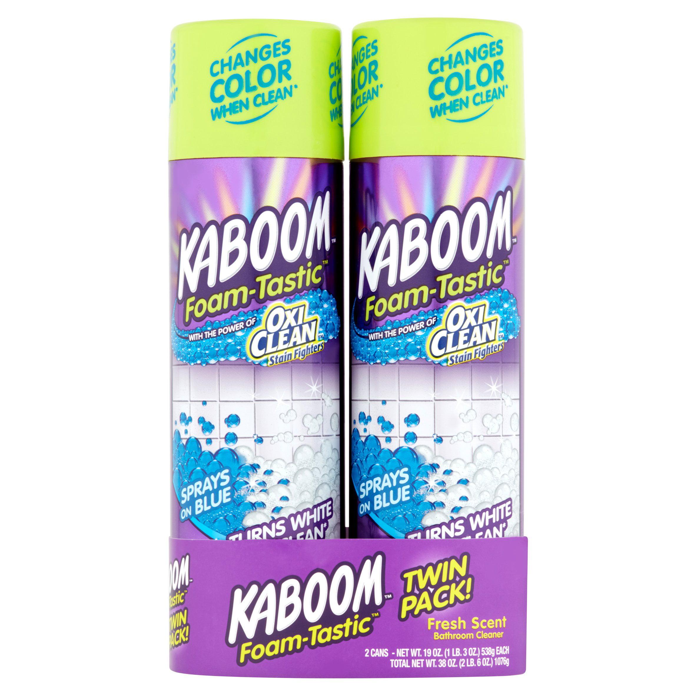 Kaboom Foam-Tastic Fresh Scent Bathroom Cleaner Twin Pack!, 19 oz, 2 count