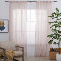 MoDRN Naturals Puffed Embellishment Curtain Panel Pair