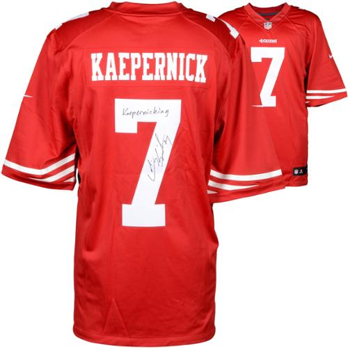 Colin Kaepernick San Francisco 49ers Autographed Red Jersey with Kaepernicking Inscription - Fanatics Authentic Certified