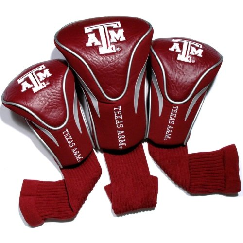 Team Golf NCAA Texas A And M 3 Pack Contour Head Covers