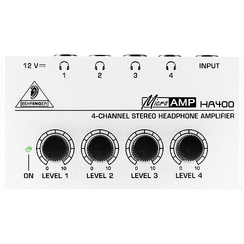 Behringer Microamp HA400 4-Channel Stereo Headphone Amplifier