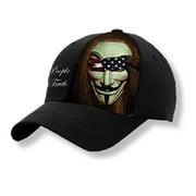 Erazor Bits We The People Guy Fawkes Baseball Cap, Black