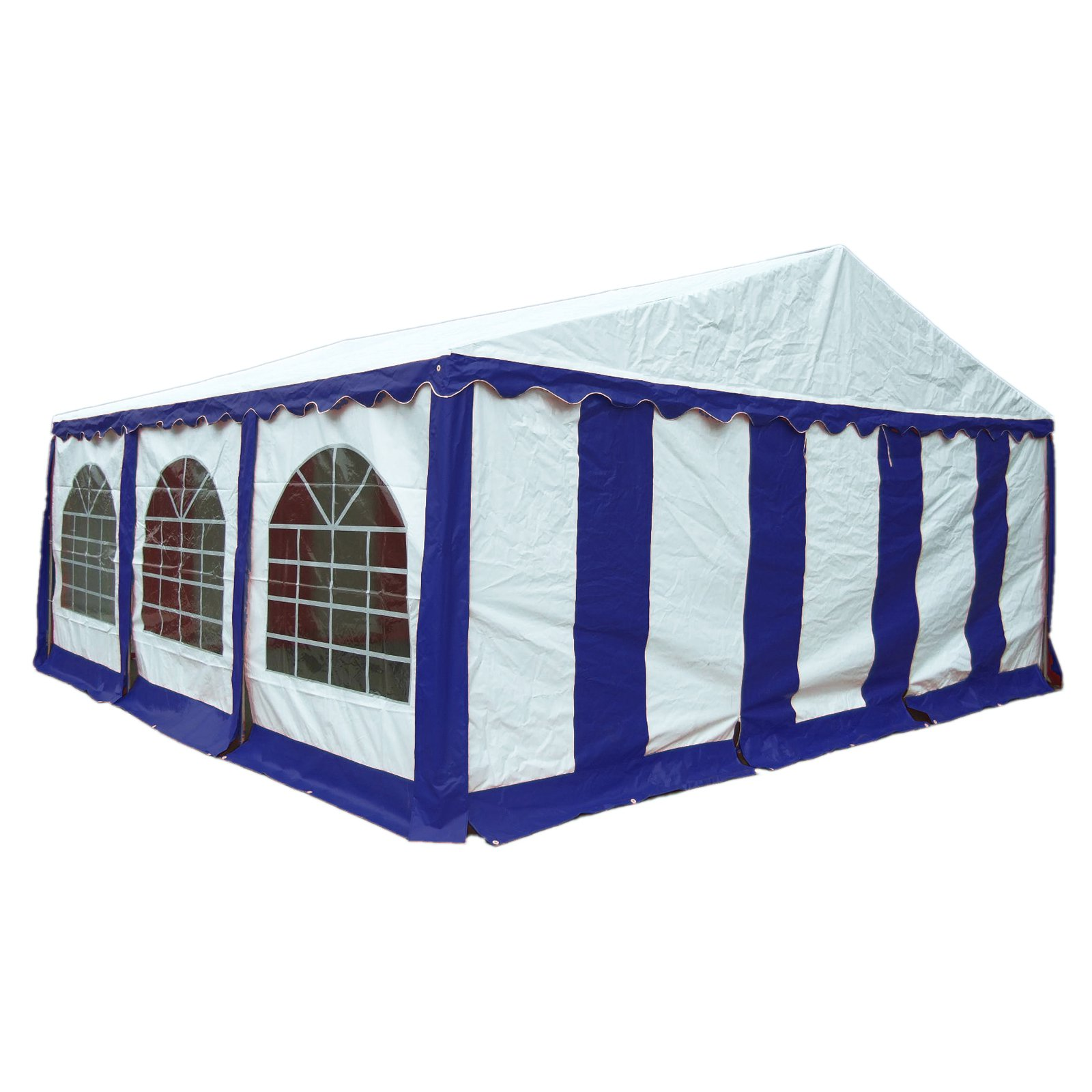 Enclosure Kit with Windows for Party Tent, 20' x 20' 6m x 6m, Blue White, (Frame and Cover Not Included) by ShelterLogic