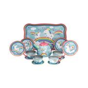 Schylling Unicorn Tin Tea Set - 15 Pieces