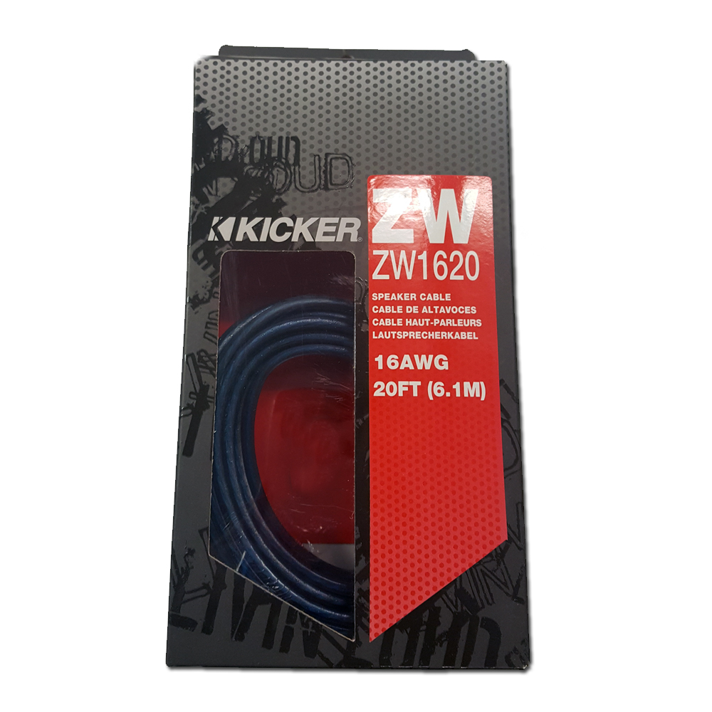 Kicker ZW1620 20 ft. of 16 AWG Z-Series Speaker Wire 09ZW1620 ...