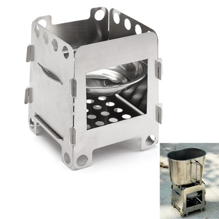 Outdoor Stove Lightweight Folding Wood Stove Pocket Outdoor Cooking