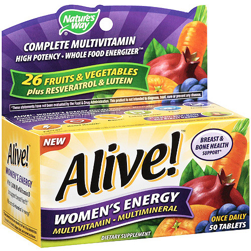 Nature's Way Alive! Women's Energy Tablets Multivitamin/Multimineral Supplement, 50 ct