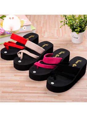 cc219decdddd Product Image New Womens Sweet Bowknot Jelly Beach Flip Flop Wedge Heel  Platform Thong Sandals