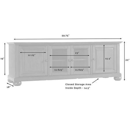 "Crosley Furniture Alexandria 60"""" Low Profile TV Stand in Black - image 4 de 5"